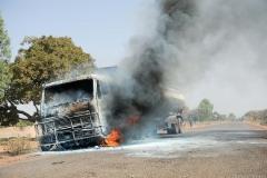 Intervention pour feu de camion