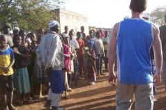 Echange avec les villageois
