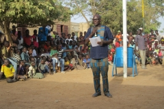 Cérémonie de l'école orphelinat de Wassongdo
